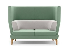 - Upholstered 2 seater high-back sofa ENTENTE | High-back sofa - Boss Design