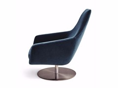 - Swivel fabric armchair with armrests ENZO | Swivel armchair - Montis
