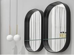 Specchio ovale a parete con mensolaEOS - CERAMICA CIELO