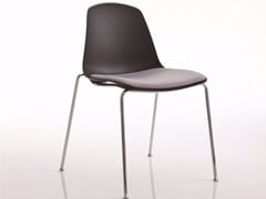 - Upholstered stackable chair EPOCA | Upholstered chair - Luxy