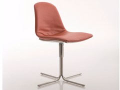 - Upholstered fabric chair with 4-spoke base EPOCA   Chair with 4-spoke base - Luxy