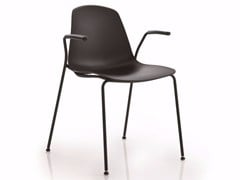 - Stackable chair with armrests EPOCA | Chair with armrests - Luxy