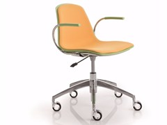 - Height-adjustable chair with 5-spoke base with casters EPOCA | Height-adjustable chair - Luxy