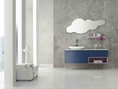 - Single wall-mounted vanity unit ESCAPE - COMPOSITION 22 - Arcom