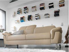 - Upholstered leather sofa ESPERIA | Leather sofa - GAUTIER FRANCE