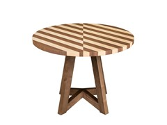 - Round wooden side table ESTRELA | Round coffee table - Branco sobre Branco