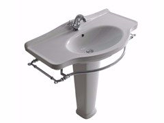 - Ceramic washbasin with towel rail ETHOS 95 | Washbasin - GALASSIA