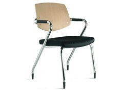 - Wooden training chair with armrests EURA | Training chair with armrests - Ares Line
