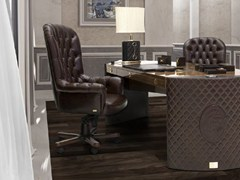- Swivel leather executive chair with 5-spoke base with casters PLAZA | High-back executive chair - Formitalia Group