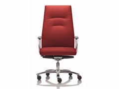 - High-back executive chair with 5-spoke base with armrests YOUSTER | Executive chair - Luxy