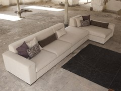 - Sofa bed with removable cover with chaise longue EXTON | Sofa with chaise longue - Domingo Salotti