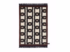 - Rectangular wool rug with geometric shapes EYES IN CHAINS - cc-tapis ®