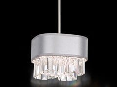 - Fabric pendant lamp with Swarovski® Crystals ZEPPA | Fabric pendant lamp - Schonbek by Swarovski International Distribution