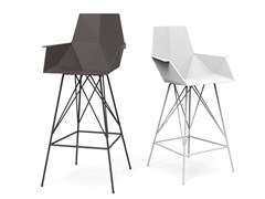 - Polypropylene counter stool with armrests FAZ | Chair with armrests - VONDOM