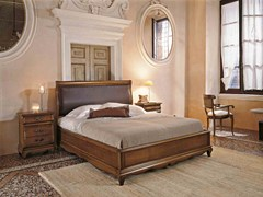 - Solid wood double bed with upholstered headboard FENICE | Double bed - Arvestyle