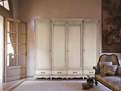 - Lacquered solid wood wardrobe with drawers FENICE | Lacquered wardrobe - Arvestyle