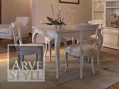 - Extending square solid wood table FENICE | Lacquered table - Arvestyle