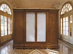 - Wood and glass wardrobe with drawers FENICE | Classic style wardrobe - Arvestyle