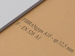Lastra in cartongesso incombustibileFIBRANgyps A1F - FIBRAN