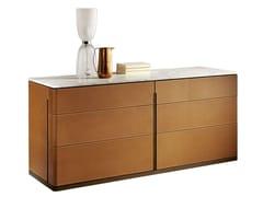 - Tanned leather dresser FIDELIO | Dresser - Poltrona Frau