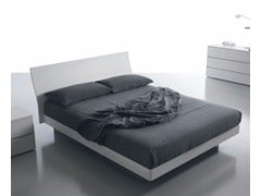 - Wooden double bed with high headboard FILESSE | Storage bed - Caccaro