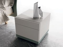 - Wooden bedside table LXA22 | Lacquered bedside table - Caccaro
