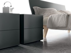 - Lacquered wooden bedside table LP32 | Wooden bedside table - Caccaro