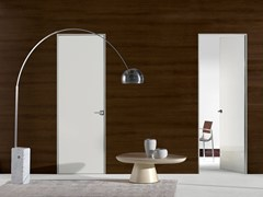 - Hinged lacquered glass door FILO ZERO - POLISHED GLASS - PORTEK by LEGNOFORM