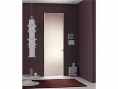 - Porta a filo muro con altezza su misura FILO ZERO - CRISTALLI SATINATI - PORTEK by LEGNOFORM