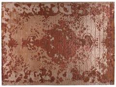 - Tappeto fatto a mano rettangolare in lana e seta FIRUZABAD RAME - Golran