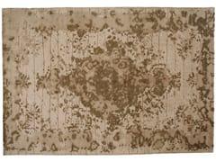 - Tappeto fatto a mano rettangolare in lana e seta FIRUZABAD WHITE - Golran