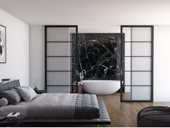 Porta scorrevole in legno e vetroFLAT F5 TOTAL BLACK | Porta scorrevole - FOA
