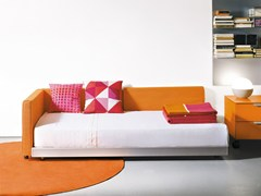 - Fabric single bed with upholstered headboard FLIPPER | Single bed - EmmeBi