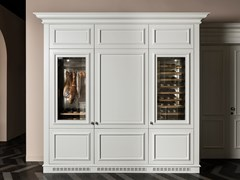 Cantinetta frigo in legno con anta in vetroFLORAL | Cantinetta frigo - L'OTTOCENTO