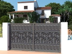 - Swing Motorized iron gate FLOREALE 593 - Fabbridea