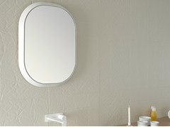 - Framed bathroom mirror FLUENT | Oval mirror - INBANI