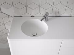 - Round washbasin with integrated countertop FLUENT | Round washbasin - INBANI