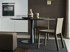 - Lacquered round table FLUTE | Lacquered table - Poliform