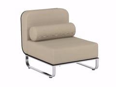 - Upholstered modular fabric garden armchair FOLD | Armchair - ROYAL BOTANIA