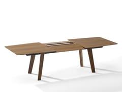 - Extending walnut dining table FONTANA | Walnut table - Draenert