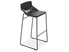 - Sled base stool with footrest FORMULA80 | Sled base stool - AREA DECLIC
