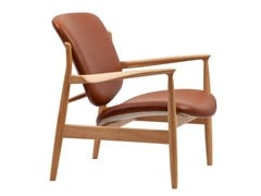 - Sedia in pelle con braccioli FRANCE CHAIR | Sedia in pelle - Onecollection
