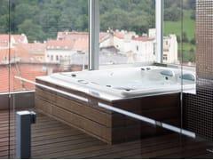 Vasca da bagno centro stanza idromassaggio quadrataVasca da bagno centro stanza - CARMENTA