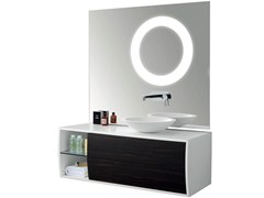 - Single wall-mounted vanity unit with mirror GALBE | Single vanity unit - International Swiss Concepts