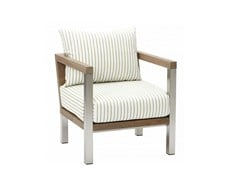 - Wooden garden armchair with armrests ORIGIN | Garden armchair - 7OCEANS DESIGNS