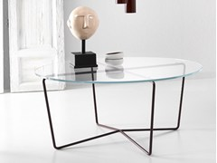 - Low glass and steel coffee table GEMMA | Glass and steel coffee table - Altinox Minimal Design