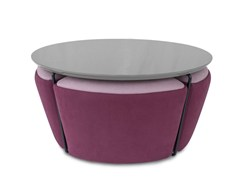 - Round MDF coffee table GEMMA | MDF coffee table - Altinox Minimal Design