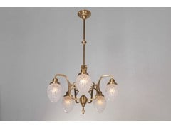 - Direct light brass chandelier GENOA III | Pendant lamp - Patinas Lighting
