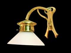 - Lampada da parete a luce diretta in ottone GENOA V | Lampada da parete - Patinas Lighting