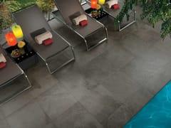 - Outdoor wall/floor tiles with stone effect GEO GRIS OUTDOOR PLUS - NOVOCERAM
